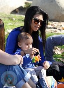 Kourtney Kardashian and son Mason