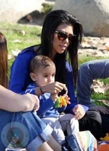 Kourtney Kardashian and son Mason
