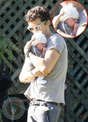 Orlando Bloom with son Flynn