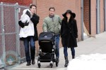 Bethenny Frankel, Jason Spitz & Jason Hoppy with daughter Bryn