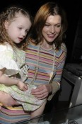 Milla Jovovich and Ever at the The Hospitality Lounge