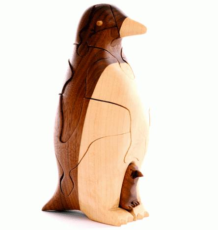 Wooden 3-D Penguin Puzzle