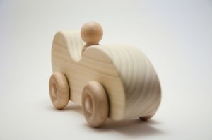 NATURAL Classic Roadster Wooden Toy