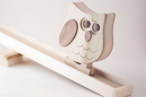 Oliver the Wooden Walking Owl