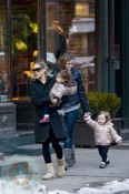 Sarah Jessica Parker with her Nanny and twins Tabitha and Marion