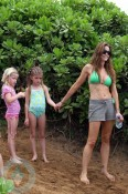 Denise Richards and her daughters Sam(R) and Lola(L)