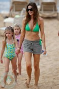 Denise Richards and her daughters Sam(L) and Lola(R)