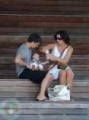 Jeff Gordon and Ingrid Vandebosch with Leo in St