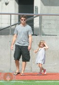 Jeff Gordon and Ella in St