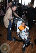 Tisha Campbell with son