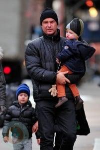 Liev Schreiber with son Alexander and Samuel