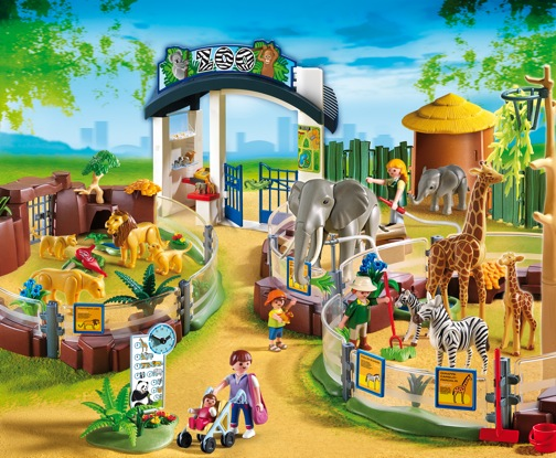 4850_Playmobil Large Zoo with Entrance - Growing Your Baby