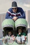 Matthew McConaughey With Kids Levi and Vida!