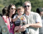 Kevin Costner and Christine Baumgartner with youngest son Hayes