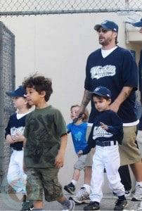 Kevin Federline with sons Jayden James, Kaleb & Sean Preston Federline