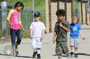 Kevin Federline's four children (L-R): Kori, Sean Preston, Kaleb, and Jayden James