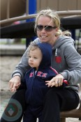 Kendra Wilkinson with son Hank