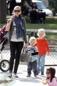 Naomi Watts with sons Sammy and Sasha