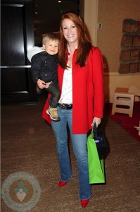 Angie Everhart and son Kayden