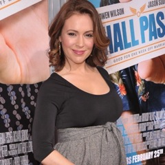 Alyssa Milano Debuts Her Bump At Hallpass Premiere