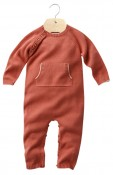 ASH- Babies'feetless organic cotton and cashmere bodysuit