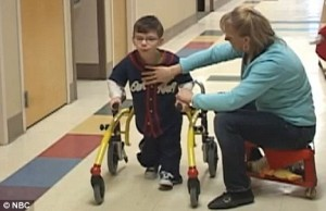 Chase Britton learning to walk