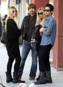 Rachel Zoe and Roger Berman with friends in LA