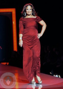 An Expectant Laila Ali At the Heart Truth's Red Dress Fashion Show