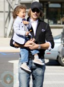 Gabriel Aubry with daughter Nahla