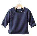 INDY - Babies' buttoned organic cotton and cashmere cardigan