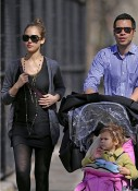 Jessica Alba out with Honor Marie & Cash Warren