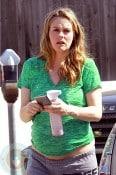 A pregnant Alicia Silverstone in LA