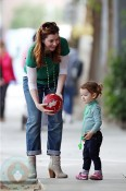 Alyson Hannigan and daughter Satyana