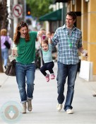 Alyson Hannigan and husband Alexis Denisof with daughter Satyana