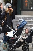 Sarah Jessica Parker with daughters Tabitha(bottom) and Marion Broderick