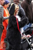 Pregnant Jane Krakowski dresses as a dog while filming 30 Rock