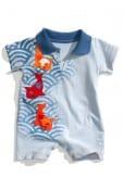 Disney, It's a Small World Koi Fish Shortalls (Infant)