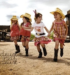 Deux par Deux Spring/Summer 2011 ~ Western chic to take kids from school to the desert and back again!