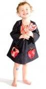 Apple Pocket Bib Dress