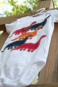Belle + Bee - Lots of Dinos Onesie Size 6 months