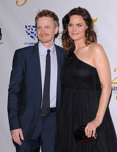 emily deschanel and her husband david hornsby growing