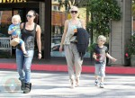 Gwen Stefani with sons Zuma and Kingston