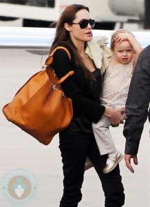Angelina Jolie and  daughter Vivienne