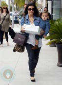 Kourtney Kardashion with son Mason Disick