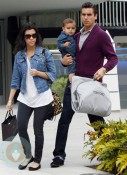 Kourtney Kardashion with Scott and Mason Disick