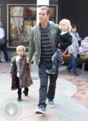 Gavin Rossdale with sons Zuma and Kingston