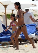 Courtney Cox and daughter Coco in St. Barts