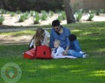 Amy Adams with fiance Darren LeGallo and daughter Aviana