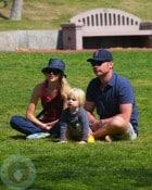Naomi Watts and Liev Schrieber at the park with son Sammy