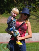 Naomi Watts and with son Sammy